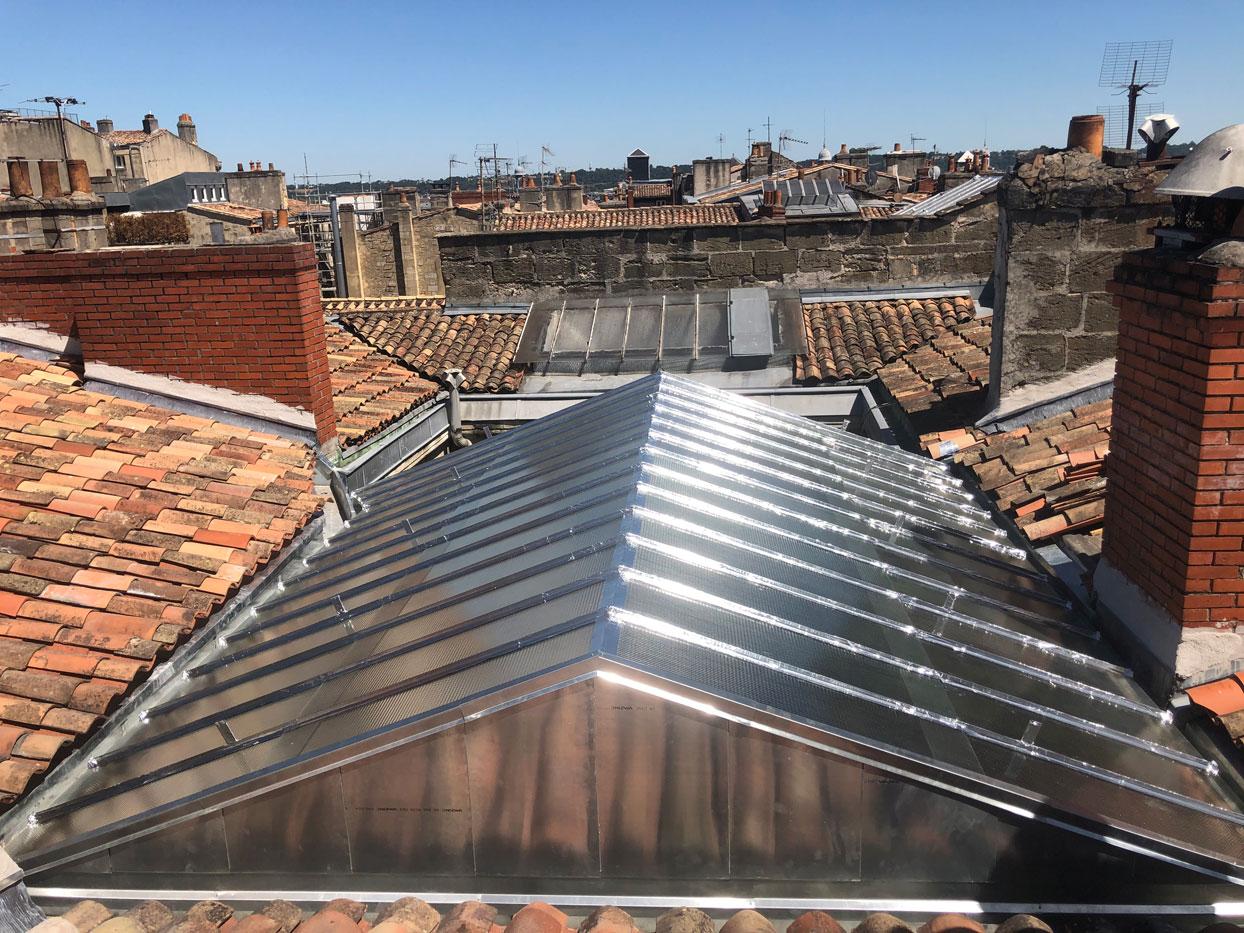 Rénovation de verrière à Bordeaux par Combles & Toitures